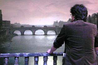 vue sur le Pont Neuf au XVIIIème siècle. Lyon, mai 2007.
