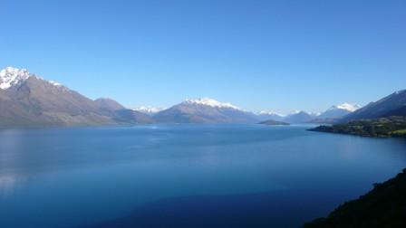 Lac Wakatipu, Queenstown, Nouvelle-Zélande, novembre 2007.